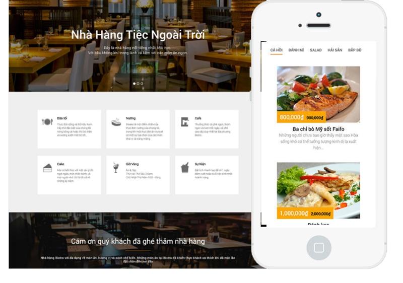 Thiết kế website cho nhà hàng, chốt tỉ lệ thực khách đặt bàn tới 95%