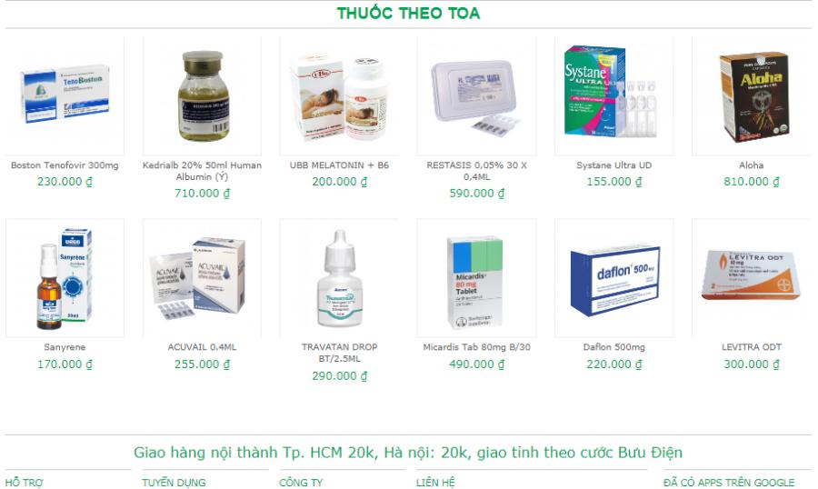 Thiết kế website nhà thuốc chuẩn SEO, trọn gói giá rẻ nhất Thanh Hóa