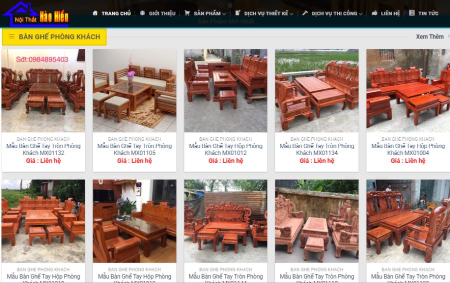 Thiết kế website nội thất trọn gói giá rẻ, uy tín tại Thanh Hóa