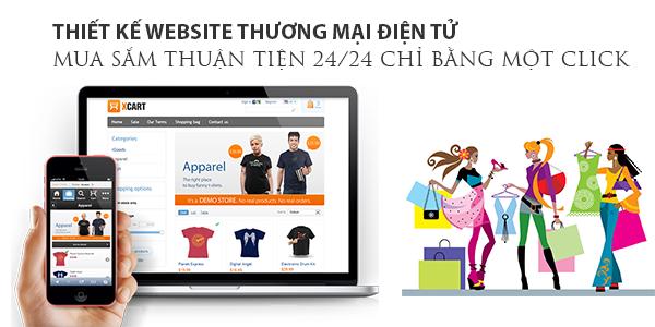 Thiết kế website thương mại điện tử, thu hút đơn hàng Online hiệu quả