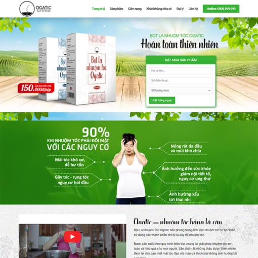Mẫu Website Bán Thuốc Nhuộm Tóc MA-1102