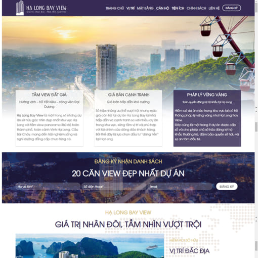 Mẫu Website Bất Động Sản MA-1045