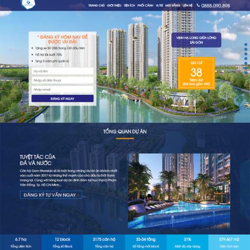 Mẫu Website Bất Động Sản MA-1046