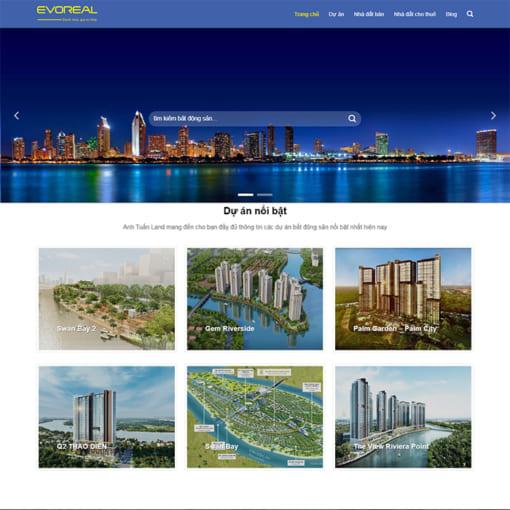 Mẫu Website Bất Động Sản MA-1047