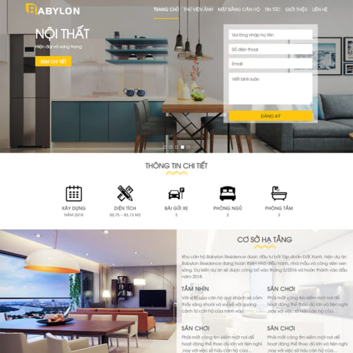 Mẫu Website Bất Động Sản MA-1050