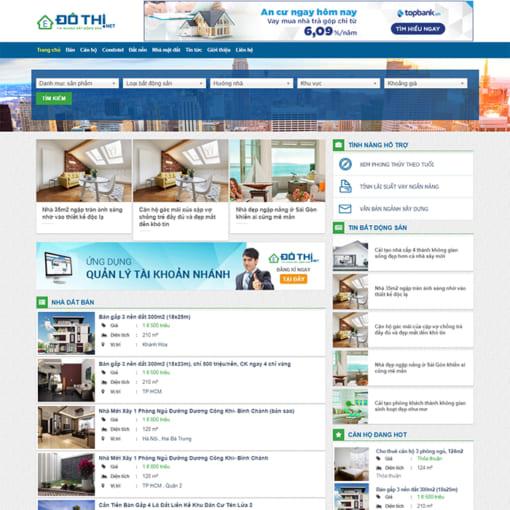Mẫu Website Bất Động Sản MA-1056