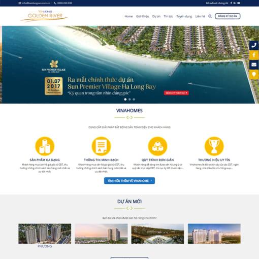 Mẫu Website Bất Động Sản MA-1061