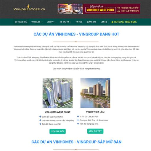 Mẫu Website Bất Động Sản MA-1064