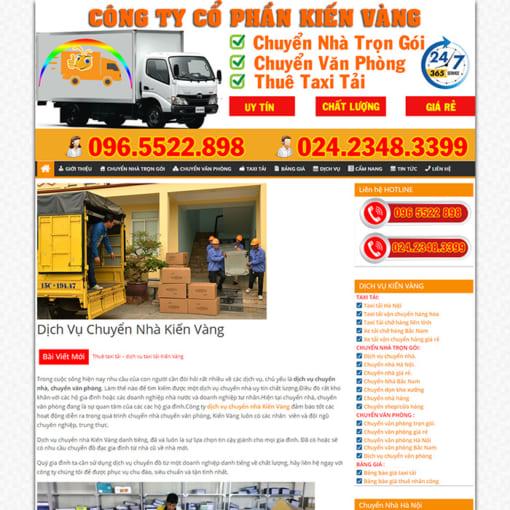 Mẫu Website Chuyển Nhà Trọn Gói MA-3001