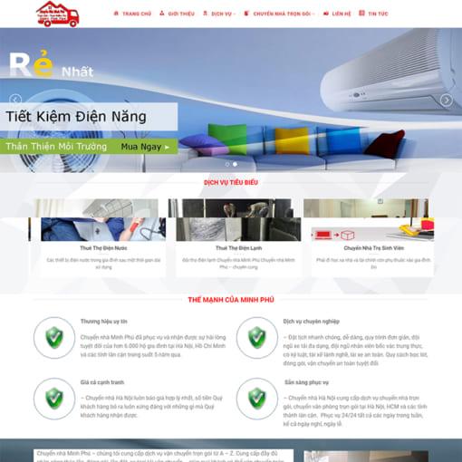 Mẫu Website Chuyển Nhà Trọn Gói MA-3003