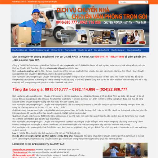 Mẫu Website Chuyển Nhà Trọn Gói MA-3006