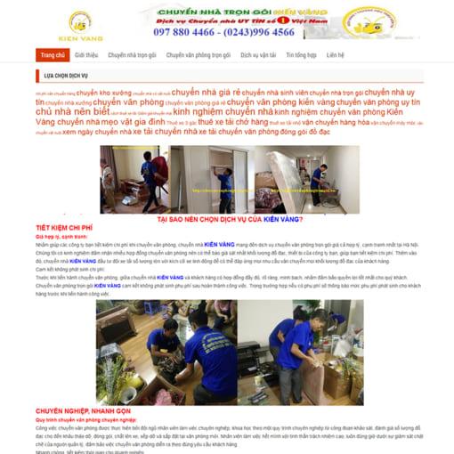 Mẫu Website Chuyển Nhà Trọn Gói MA-3007