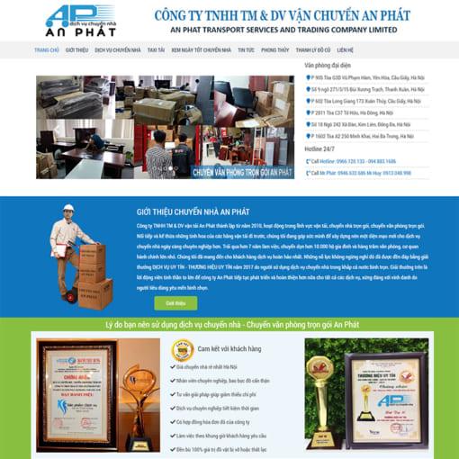 Mẫu Website Chuyển Nhà Trọn Gói MA-3008
