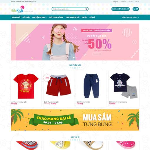 Mẫu Website Cửa Hàng Thời Trang MA-1105