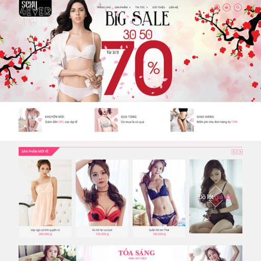 Mẫu Website Cửa Hàng Thời Trang MA-1106