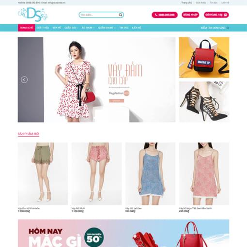 Mẫu Website Cửa Hàng Thời Trang MA-1108