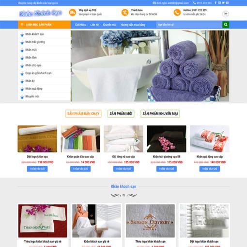 Mẫu Website Thời Trang - Bán Khăn Tắm MA-1114
