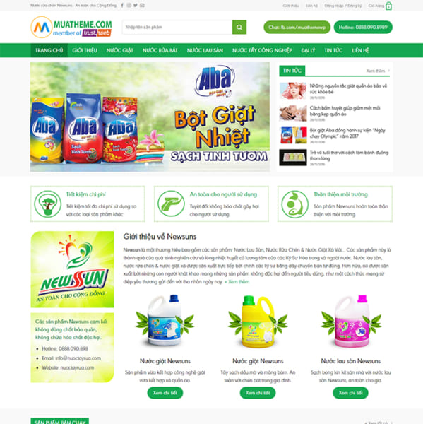 Mẫu Website Mỹ Phẩm MA-1139