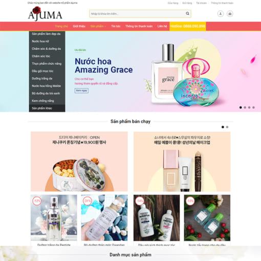Mẫu Website Mỹ Phẩm MA-1143