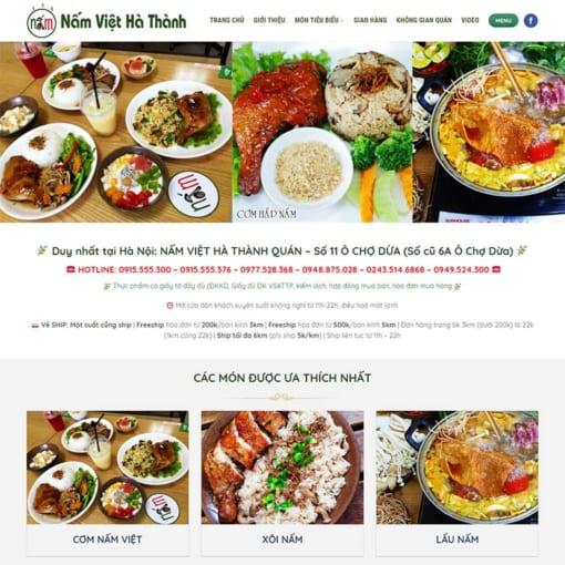 Mẫu Website Nhà Hàng MA-1034