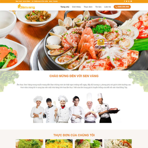 Mẫu Website Nhà Hàng MA-1036