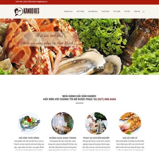 Mẫu Website Nhà Hàng MA-1037