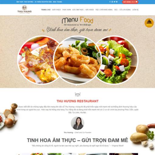 Mẫu Website Nhà Hàng MA-1040