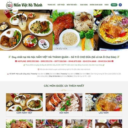 Mẫu Website Nhà Hàng MA-1031