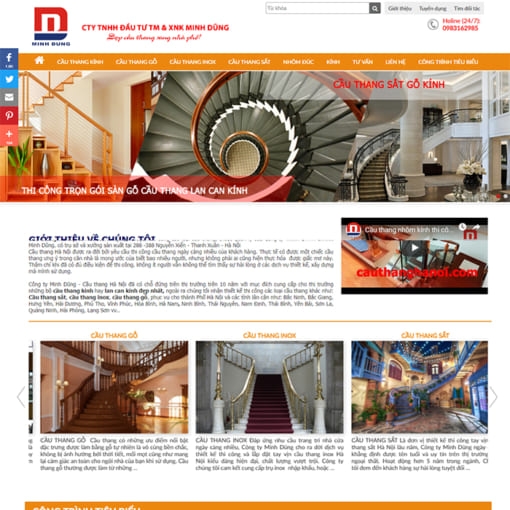 Mẫu Website Nội Thất Cầu Thang MA-1095