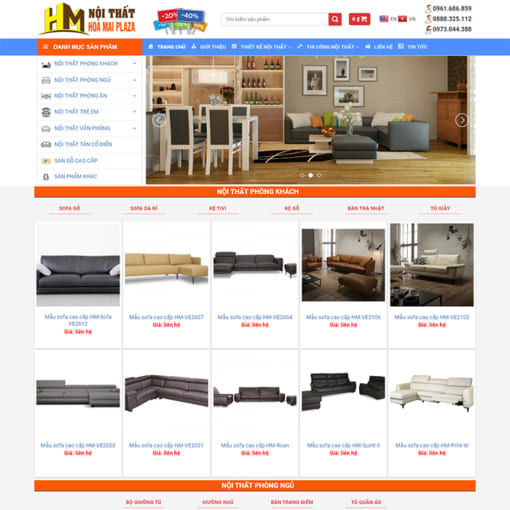 Mẫu Website Nội Thất Hoa Mai Plaza MA-1011