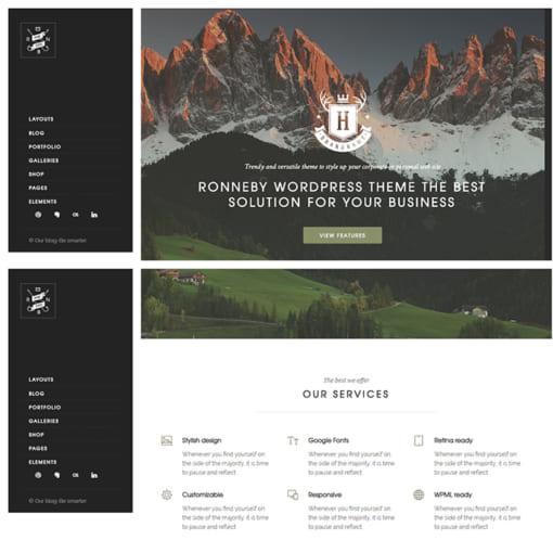 Mẫu Website Quốc Tế - Giới Thiệu Công Ty MA-1069