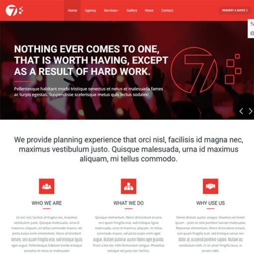Mẫu Website Quốc Tế - Tổ Chức Sự Kiện MA-1071