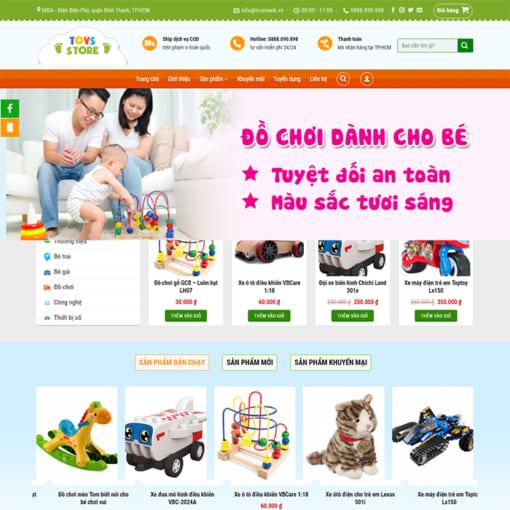 Mẫu Website Thời Trang - Shop Đồ Chơi Cho Bé MA-1115