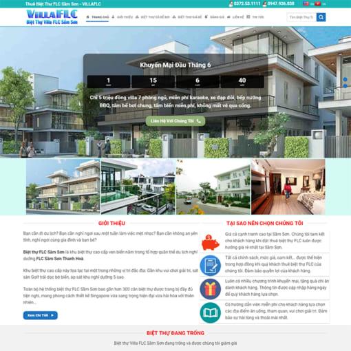 Mẫu Website Thuê Biệt Thự Nhà Nghỉ MA-3010