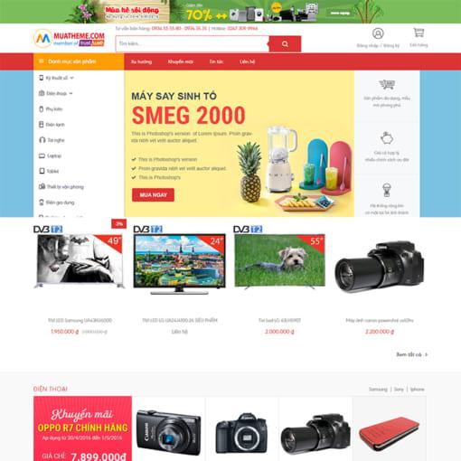 Mẫu Website Thương Mại Điện Tử MA-1107