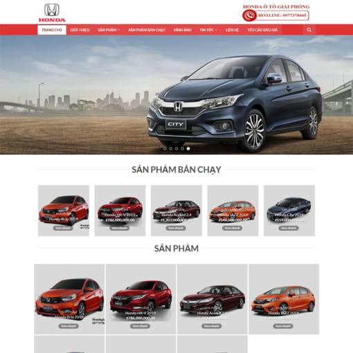Mẫu Website Bán Ôtô MA-3071