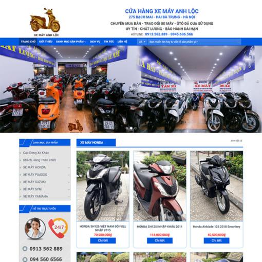 Mẫu Website Bán Xe Máy MA-3100