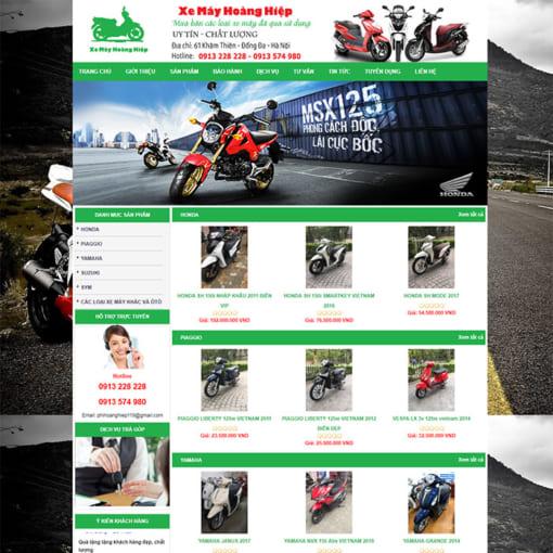 Mẫu Website Bán Xe Máy MA-3101