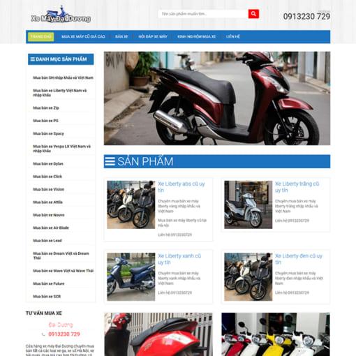 Mẫu Website Bán Xe Máy MA-3102