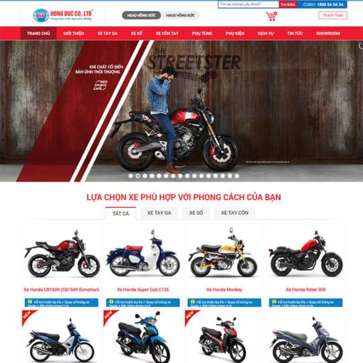 Mẫu Website Bán Xe Máy MA-3103