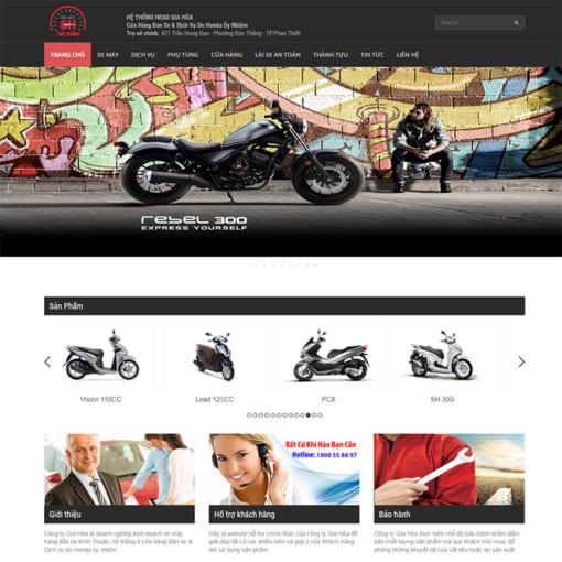 Mẫu Website Bán Xe Máy MA-3104
