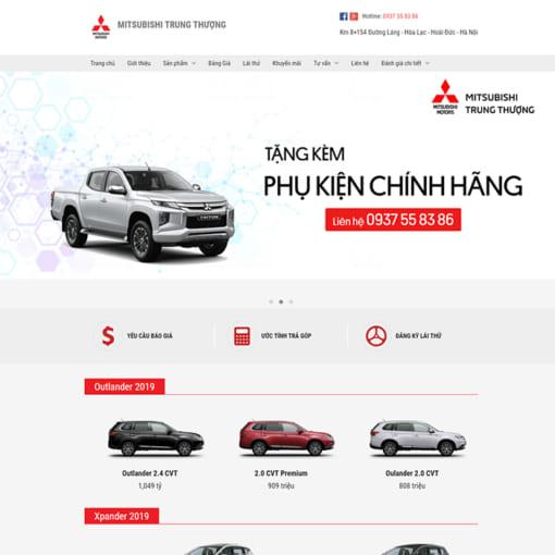 Mẫu Website Bán Xe Ôtô MA-3069