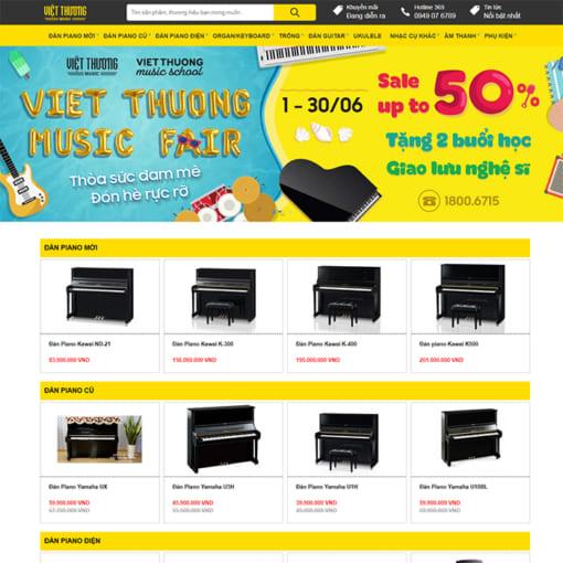 Mẫu Website Nhạc Cụ Piano MA-3082