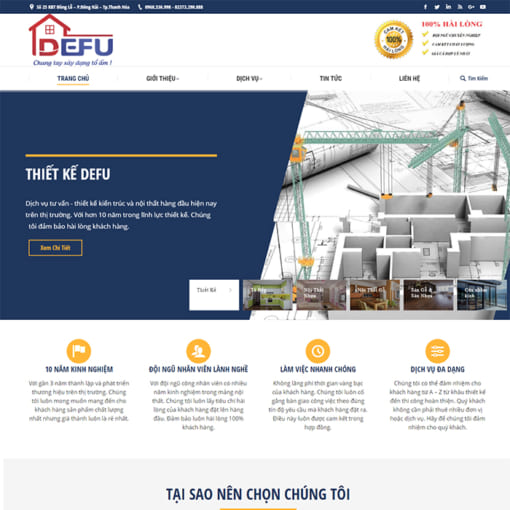 Mẫu Website Nội Thất Và Giới Thiệu Công Ty MA-3105