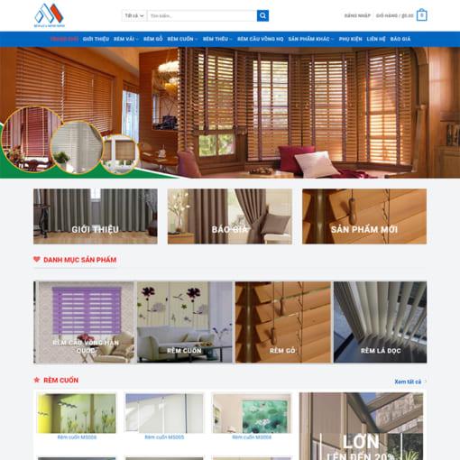 Mẫu Website Rèm Mành - Rèm Cửa MA-3089