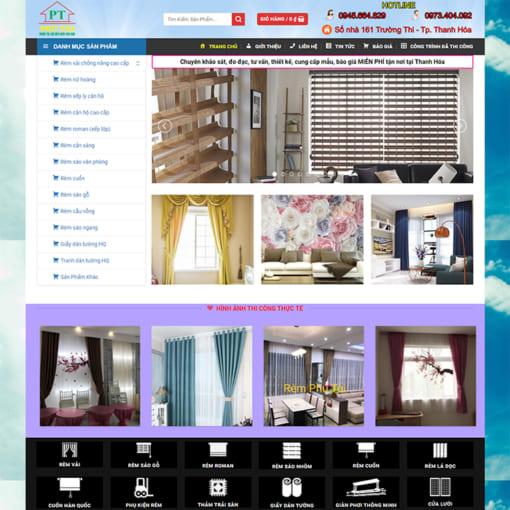 Mẫu Website Rèm Mành Rèm Cửa MA-3092