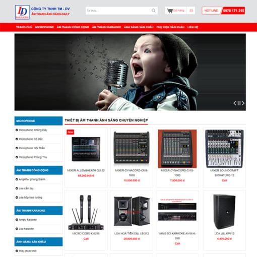 Mẫu Website Thiết Bị Âm Thanh Ánh Sáng MA-3081