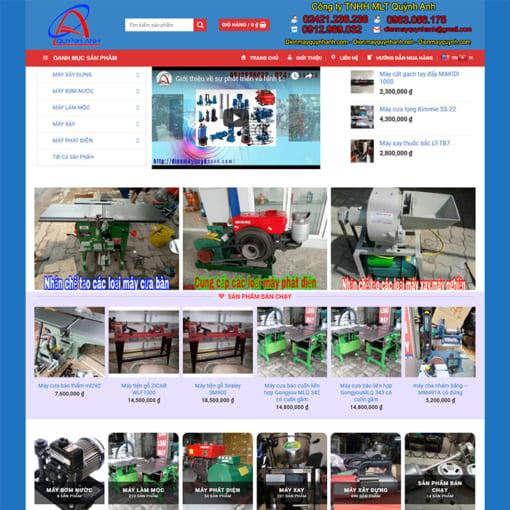 Mẫu Website Thiết Bị Điện Máy MA-3075