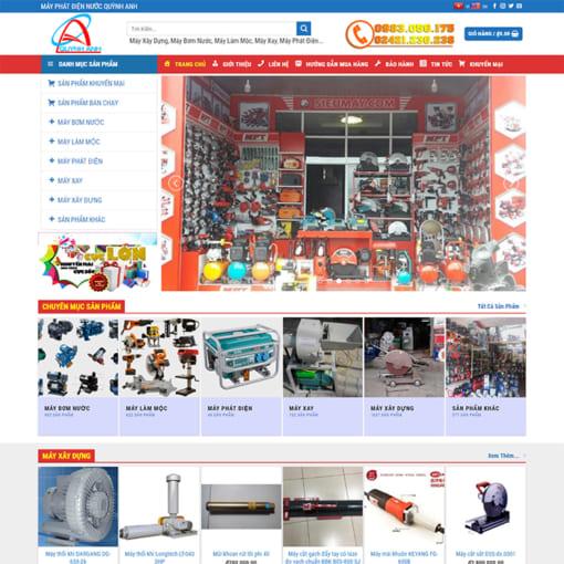 Mẫu Website Thiết Bị Điện Máy MA-3076