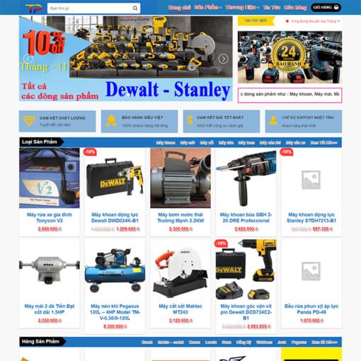 Mẫu Website Thiết Bị Điện Máy MA-3077